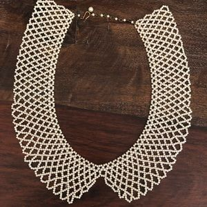 Pearl Beaded Urban Outfitters Bib Necklace